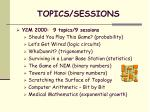 topics sessions