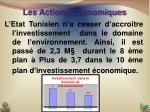 les actions economiques