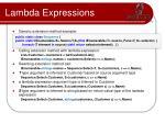 lambda expressions30