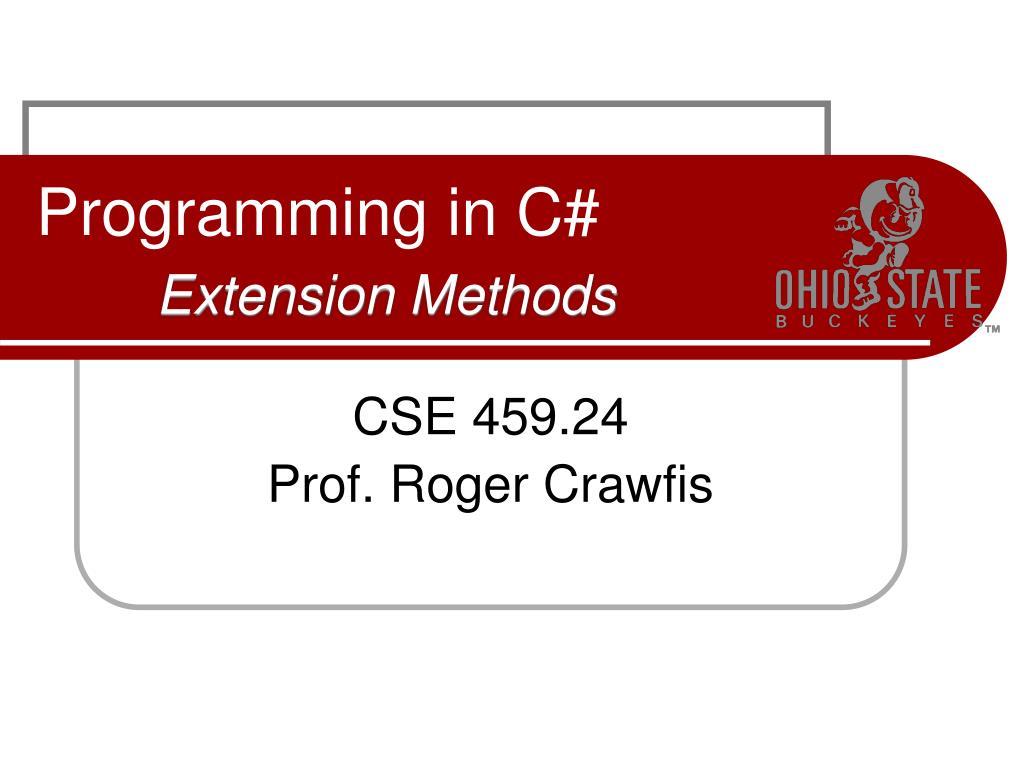 programming in c extension methods l.