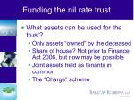 funding the nil rate trust