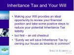 inheritance tax and your will
