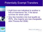 potentially exempt transfers
