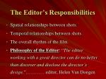 the editor s responsibilities