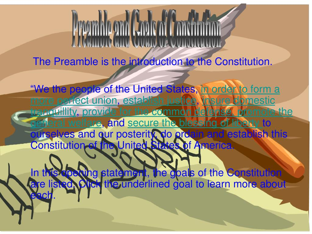 Preamble and Goals of Constitution