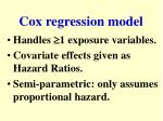 cox regression model