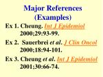 major references examples