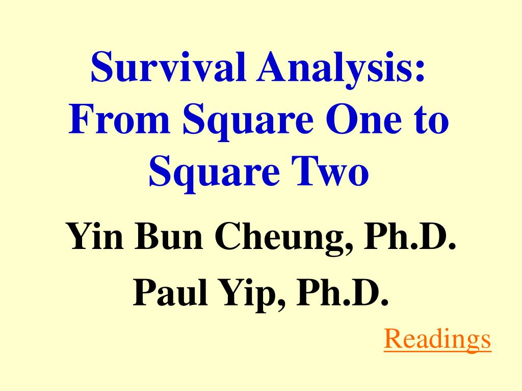 survival analysis from square one to square two l.