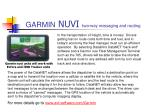 garmin nuvi two way messaging and routing