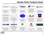 sample public company deals