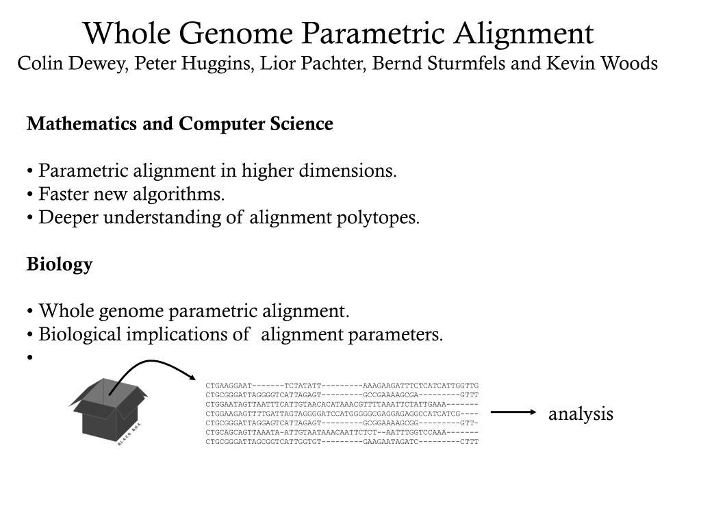 Whole Genome Parametric Alignment
