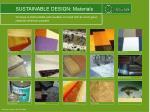 sustainable design materials