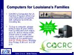 computers for louisiana s families