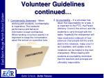 volunteer guidelines continued25