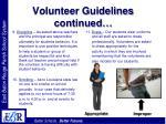 volunteer guidelines continued26