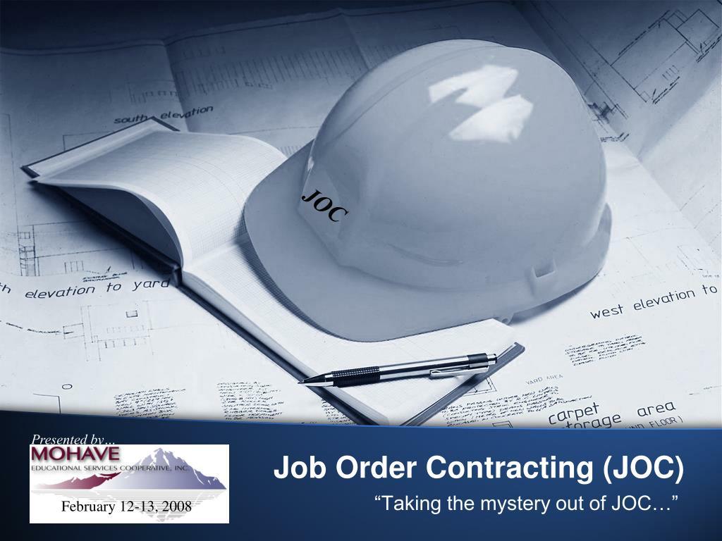 job order contracting joc l.