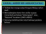 zainal abidin bin ahmad za ba