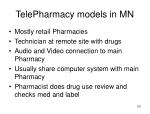 telepharmacy models in mn