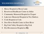 wilderness hospitals