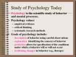 study of psychology today