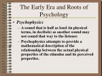 the early era and roots of psychology19