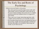 the early era and roots of psychology26