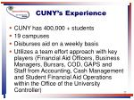 cuny s experience