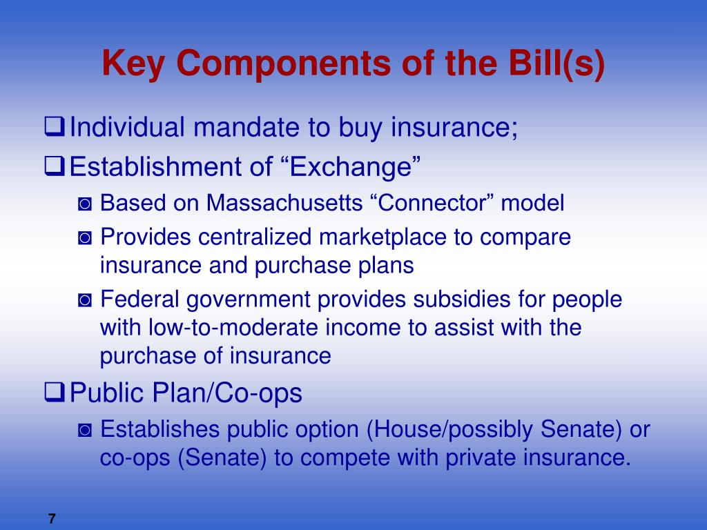 Key Components of the Bill(s)