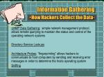 information gathering how hackers collect the data