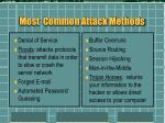 most common attack methods