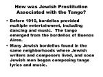 how was jewish prostitution associated with the tango