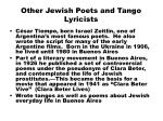 other jewish poets and tango lyricists