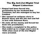 the big anti zwi migdal trial raquel lieberman