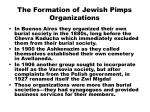 the formation of jewish pimps organizations