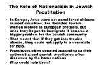 the role of nationalism in jewish prostitution