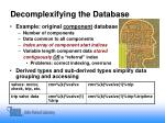 decomplexifying the database11