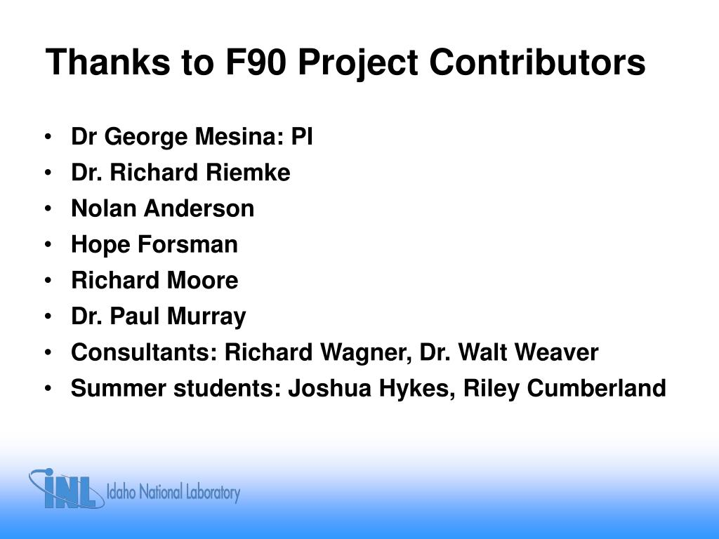Thanks to F90 Project Contributors