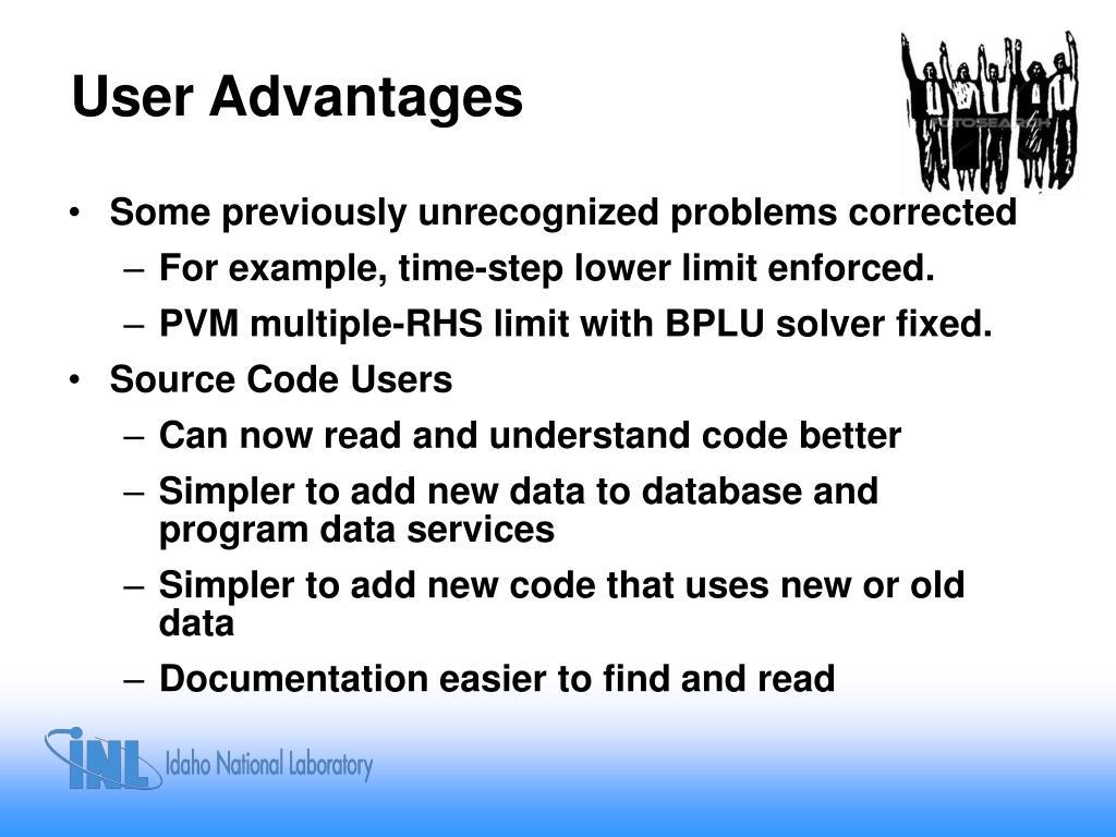 User Advantages