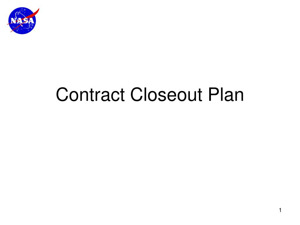 contract closeout plan l.