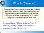 what is closeout