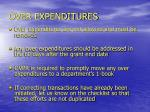 over expenditures