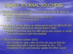 salary journal vouchers