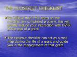 the closeout checklist8