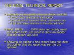 the final technical report15