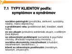 7 1 typy klientov pod a sympt mov a syndr mov