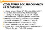 vzdel vania soc pracovn kov na slovensku