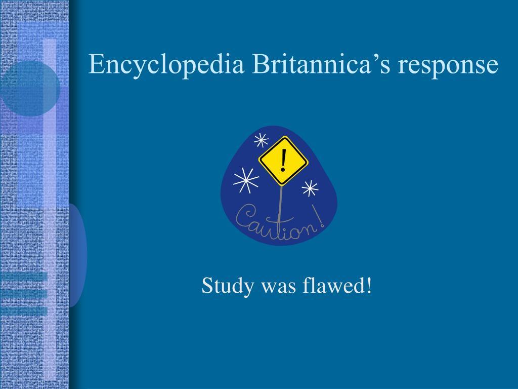 Encyclopedia Britannica's response