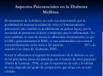 aspectos psicosociales en la diabetes mellitus