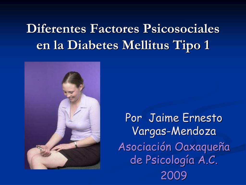 diferentes factores psicosociales en la diabetes mellitus tipo 1 l.