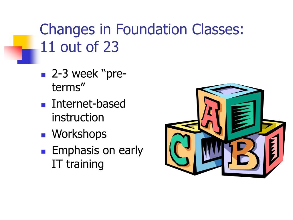 Changes in Foundation Classes: